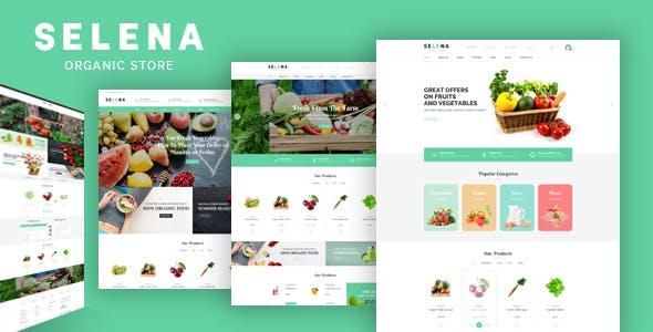 Selena - Organic Food Shop HTML Template