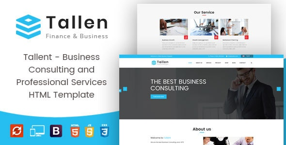 Tallent - Business Consulting and Professional Services HTML Template - Business Corporate