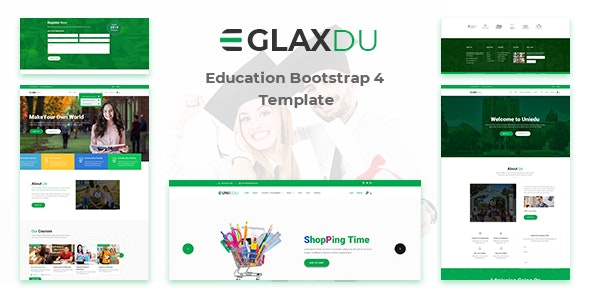 Glaxdu - Education HTML Template - Charity Nonprofit