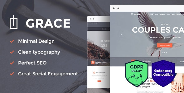 Grace - Church, Religion & Charity WordPress Theme - Churches Nonprofit