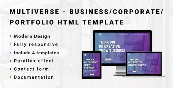 MULTIVERSE - Multipurpose Business/Corporate/Portfolio HTML Template - Corporate Site Templates