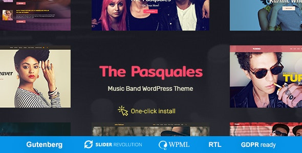 The Pasquales - Music Band, DJ and Artist WP Theme - Music and Bands Entertainment