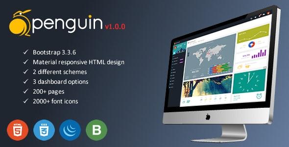 Penguin - Responsive HTML Web App Kit - Admin Templates Site Templates
