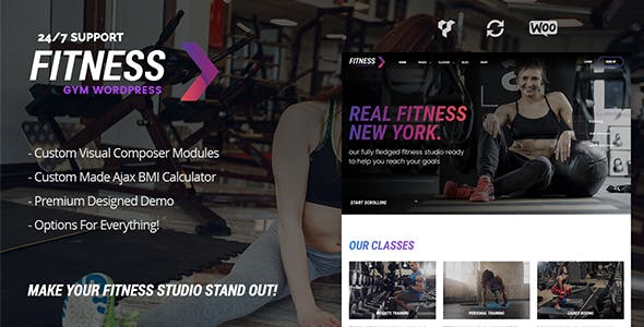 Fitness Gym – Personal Trainer & Gym WordPress Theme