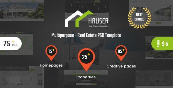 Hauser - Real Estate PSD Template - Corporate PSD Templates