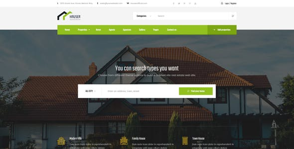 Hauser - Real Estate PSD Template