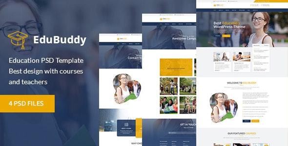 EduBuddy - Education & Academy PSD Template - Business Corporate
