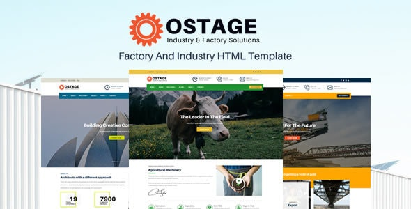 Ostage - Responsive Factory & Industry HTML Template - Business Corporate