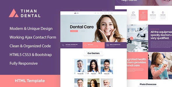 Timan - Dental Clinic & Medical HTML Template - Health & Beauty Retail