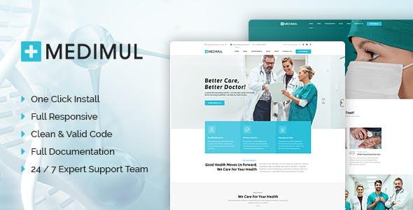 Medimul - Multi-Purpose Medical Health WordPress Theme