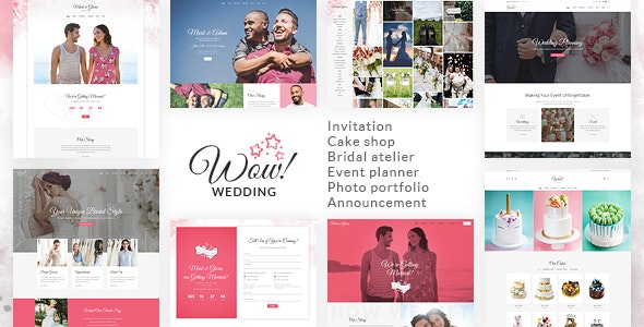 WoWedding - Wedding Oriented HTML Website Template - Wedding Site Templates