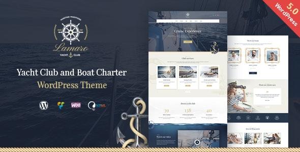 Lamaro - Yacht Club and Rental Boat Service WordPress Theme - Travel Retail