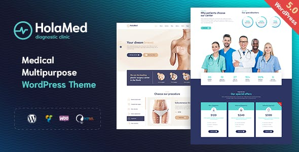 HolaMed - Medical Diagnostic & Plastic Surgery Clinic WordPress Theme