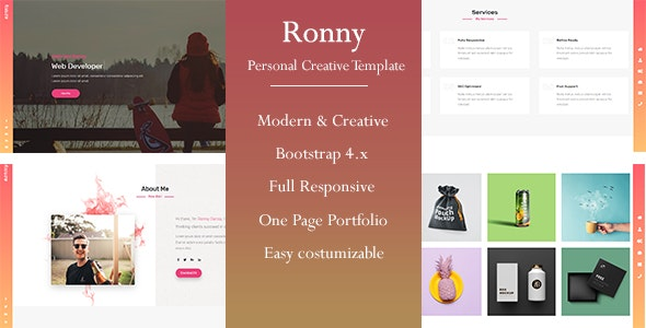 Ronny - Personal Portfolio Template - Portfolio Creative