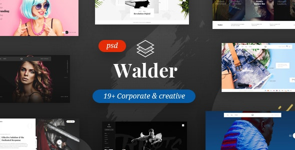 Walder - Creative & Clean Multipurpose Template - Creative Photoshop