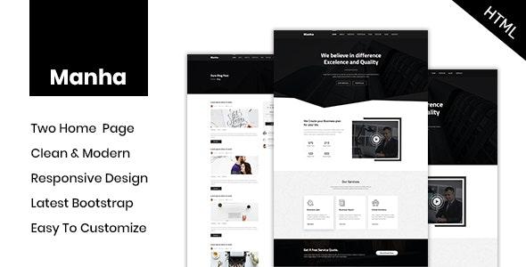 Manha - Business HTML Template - Business Corporate