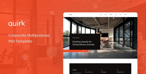 Quirk - Corporate Multipurpose PSD Template - Business Corporate