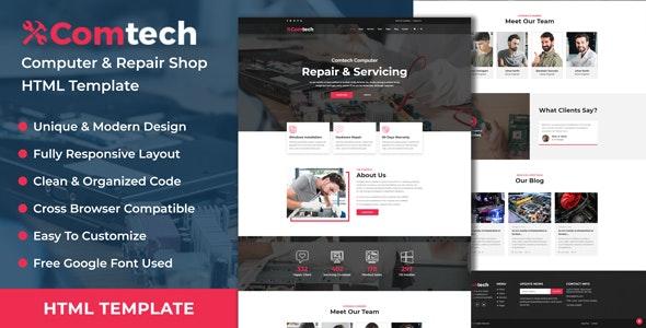 ComTech - Computer & Repair Shop Business HTML Template - Computer Technology