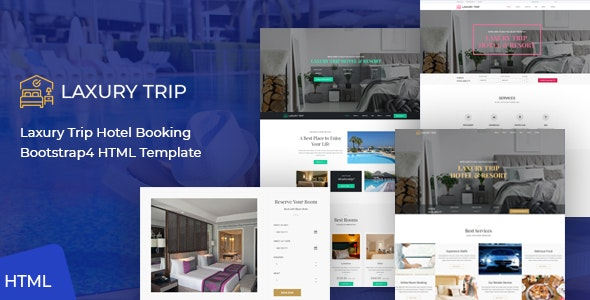 Laxury Trip - Hotel Booking HTML Template - Travel Retail