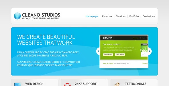 Cleano Studios WordPress Version - Creative WordPress
