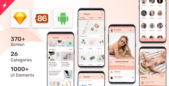 Prototype 86 - Template For Android - Sketch Templates