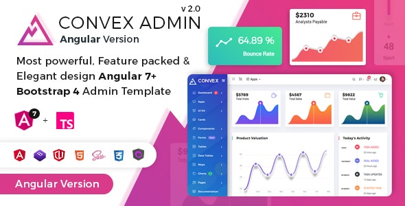 Convex - Angular Bootstrap Admin Dashboard Template by