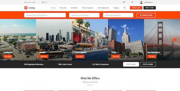Jobby - Job Portal Multi-Pupose Marketplace Psd Template