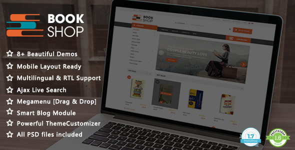 Book Shop - Magazine and Library PrestaShop 1.7 & 1.6 Theme - Shopping PrestaShop