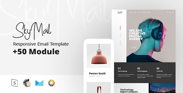 Sky Mail - Multipurpose Responsive - Email Templates Marketing