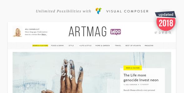 Artmag Magazine & Shop WordPress Theme - News / Editorial Blog / Magazine
