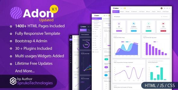 Adon - Creative Admin Multipurpose Responsive Dashboard  Template - Admin Templates Site Templates