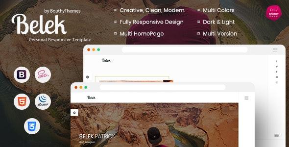 Belek - Personal Responsive Template - Personal Site Templates