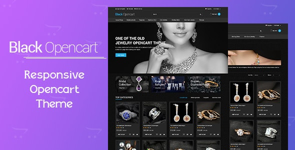 Black Opencart Template - Technology OpenCart