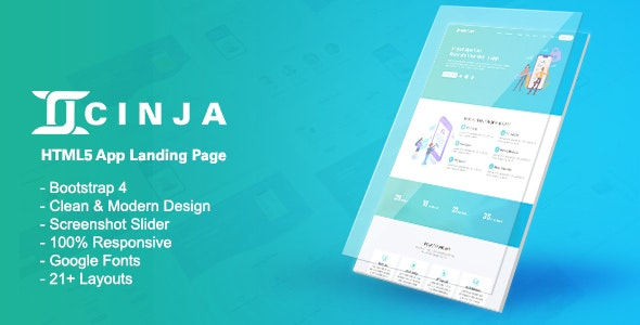 Cinja-HTML5 App Landing Template - Technology Site Templates