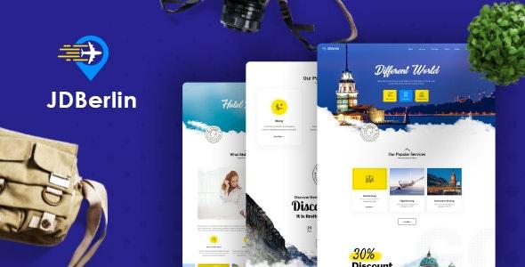 JD Berlin - Modern Travel Agency Joomla Template - Joomla CMS Themes