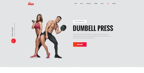 Byson - Gym, Fitness & Sports PSD Template
