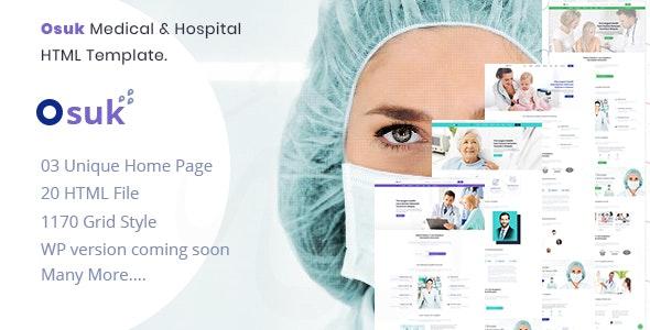 Osuk - Medical, Hospital, Doctor and Health care HTML Template - Health & Beauty Retail