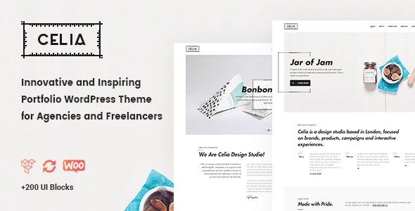 Celia - Innovative and Inspiring Portfolio WordPress Theme for Modern Agencies and Freelancers - Portfolio Creative