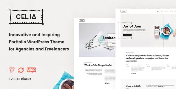 Celia - Innovative Portfolio WordPress Theme