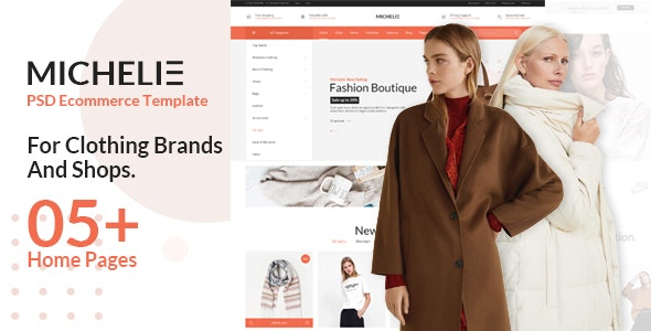 Michelie - Ecommerce PSD Template - Fashion Retail