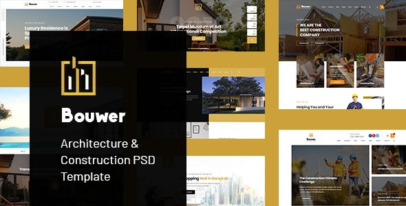 Bouwer - Architecture & Construction PSD Template - Creative Photoshop