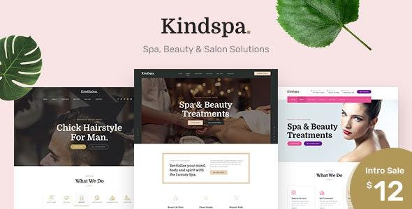 Kindspa - Spa Landing Page PSD Template - Health & Beauty Retail