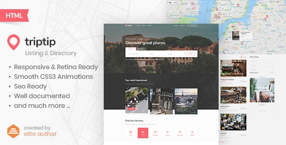 TripTip - Listing & Directory HTML5 Template - Business Corporate
