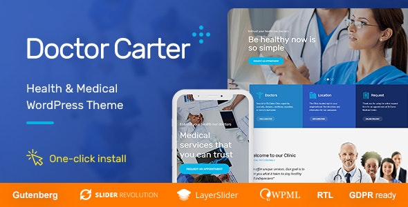 Doctor Carter - Medical WordPress Theme - Health & Beauty Retail