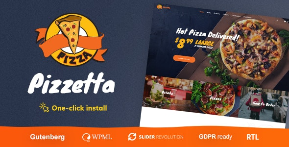 Pizzetta - Pizza, Cafe and Restaurant WordPress Theme - Food Retail