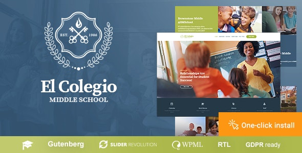 El Colegio - School & Education WP Theme with LMS - Education WordPress