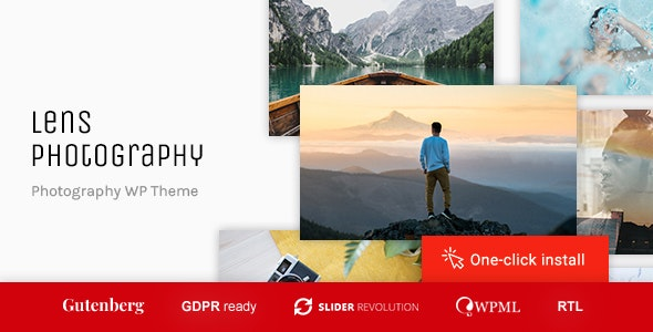Lens Photography - Portfolio WordPress Theme - Photography Creative