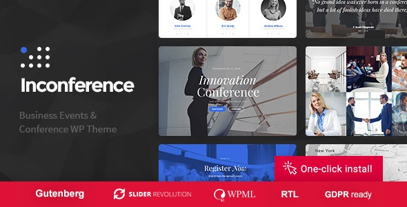In Conference - Meetup & Conference Business Event WordPress Theme - Events Entertainment