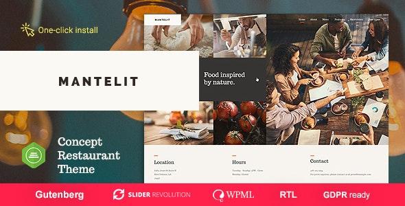 Mantelit - Restaurant WordPress Theme - Restaurants & Cafes Entertainment
