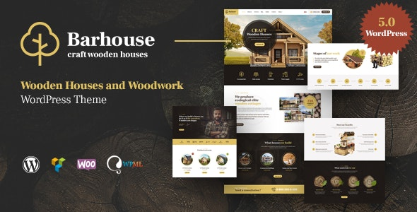 Barhouse - Wooden House Construction and Woodworks WordPress Theme - Business Corporate